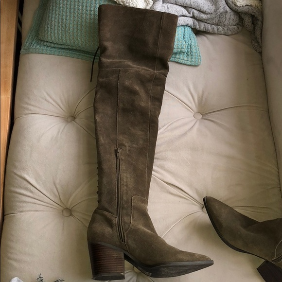 aa46835af72 Aldo Shoes - Over the knee olive green boots